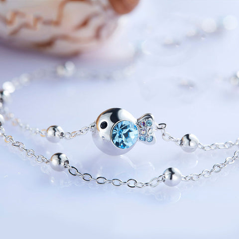 Simple Small Fish Adorned Anklet for Ladies - MyShimi.com