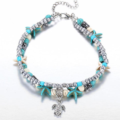 Bohemian Shell Beads Multi-layer Anklet for Women - MyShimi.com