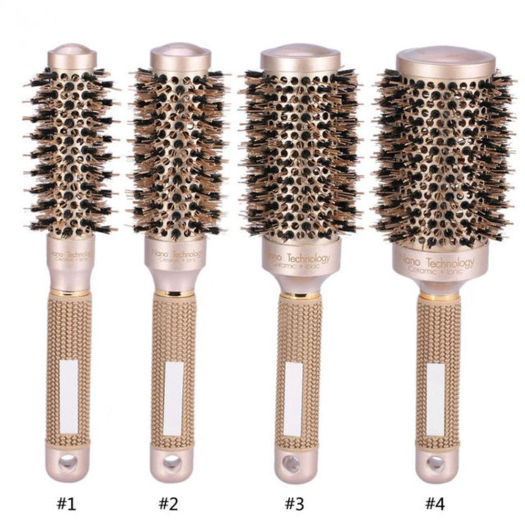 Round Roller Ceramic Iron Professional Hair Brush - MyShimi.com