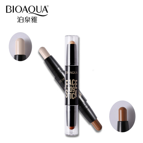 Double Head 3D Face Bronzer Makeup Concealer Foundation Stick - MyShimi.com