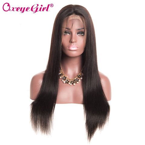 Peruvian Girl Lace Front Straight Human Hair Wigs Hair For Women - MyShimi.com