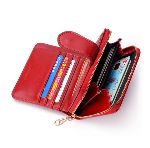 Elegant Leather  Multi-function Wallet Purse for  Women - MyShimi.com
