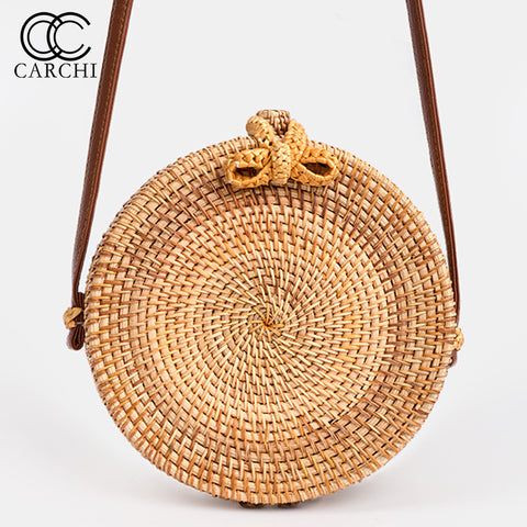 Bohemian Vintage Rattan Cross body Bag - MyShimi.com