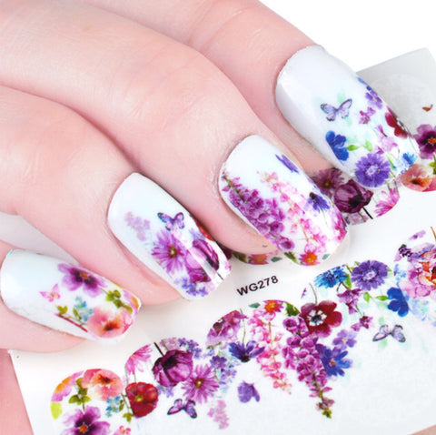 Stunning Nail Art Sticker Template Set
