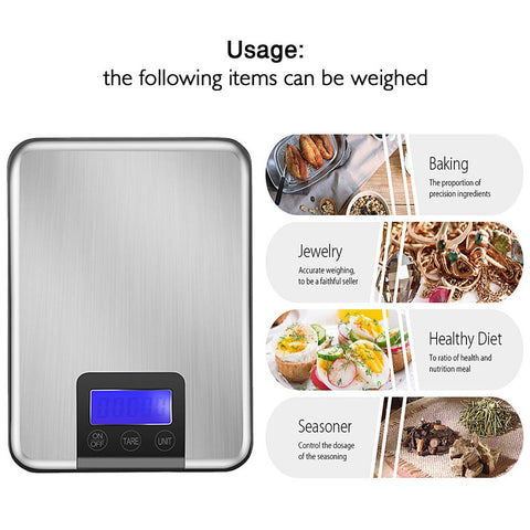 Slim Stainless Steel Digital Electronic Scale - MyShimi.com