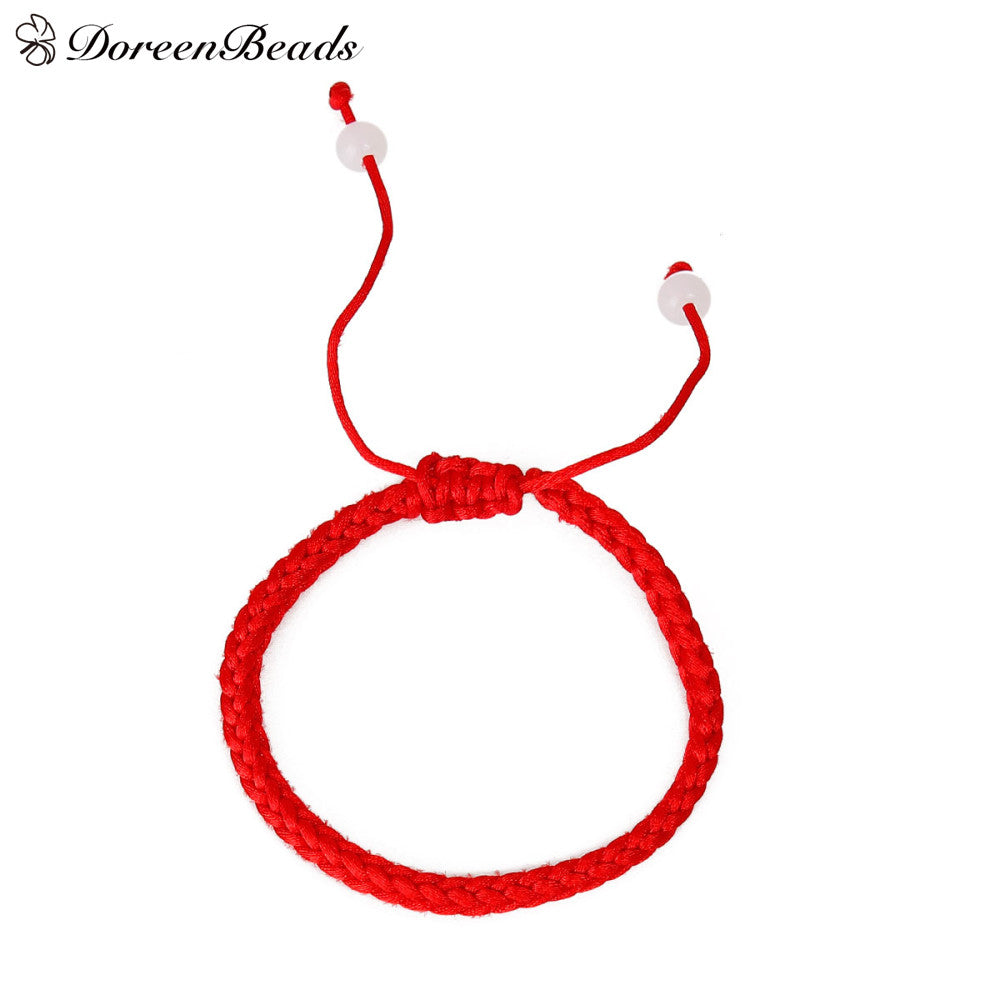 Braided Friendship Bracelet in Red Strings - MyShimi.com
