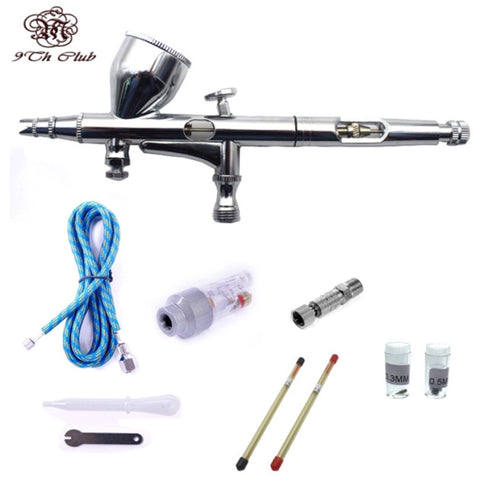 Mini Airbrush Compressor Kit with Dual Action Gravity - MyShimi.com