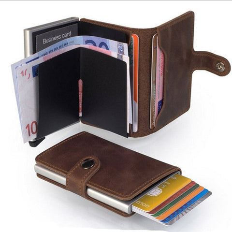 Premium Quality  Leather Purse Card Holder with  Anti-Theft RFID Technology