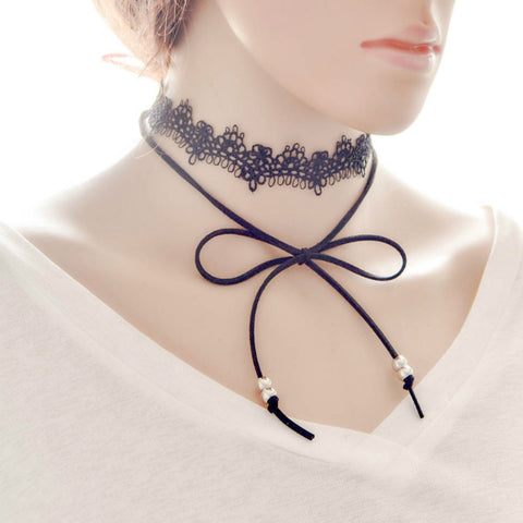 Elegant Sexy Black Lace Wrap Chokers  for Women - MyShimi.com