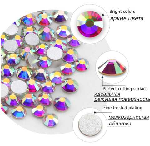 Nail Glass Crystals Rhinestones for Nails Art Accessories - MyShimi.com