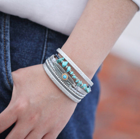 Vintage Multi-layer Charm Bracelet for Women