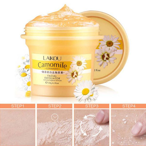 Natural Chamomile Organic Facial  Exfoliating Cream - MyShimi.com