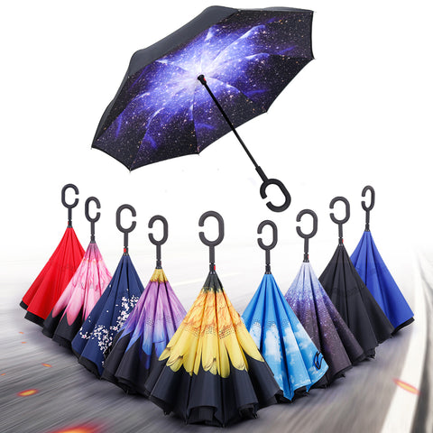 C-Hook Reversible Double Layer Windproof Umbrella - MyShimi.com