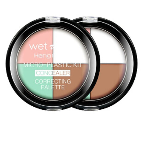 4 Color Face Concealer Correction Highlighter Contour Palette - MyShimi.com