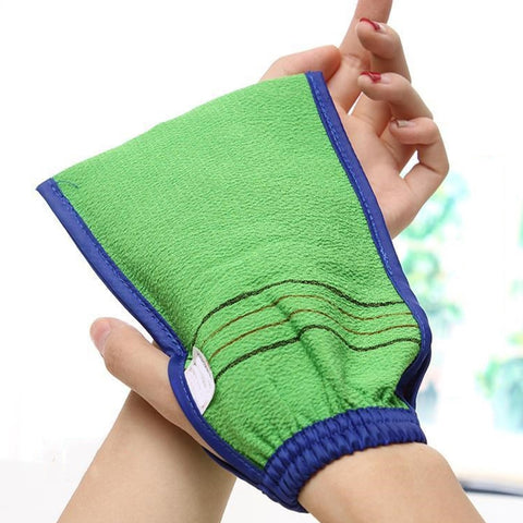 Two-sided Bath Glove Shower Exfoliator Body Cleaning Scrub