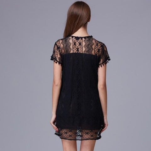Hot Summer Beach Mini Lace Dress - MyShimi.com