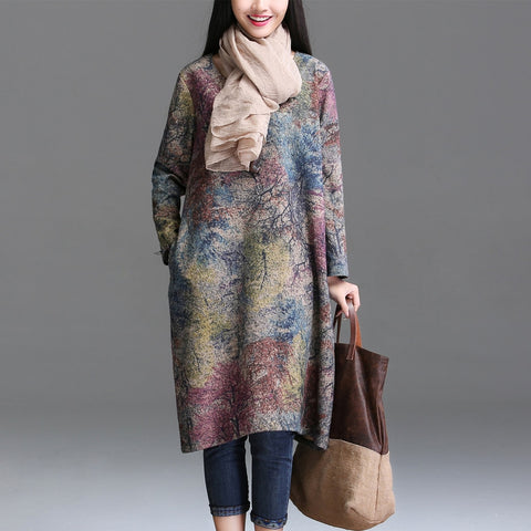 Vintage Inspired Loose Korean Dress - MyShimi.com