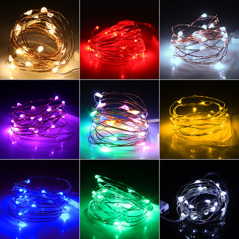 LED String Copper Wire Fairy Light Christmas Decoration - MyShimi.com