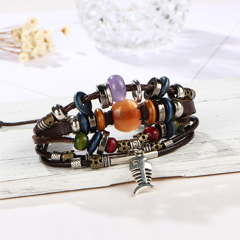 Adjustable Turkish  Women Leather Bracelets - MyShimi.com