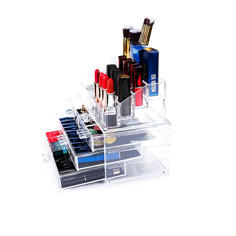 Extra Large Acrylic Makeup Organizer with Drawer and Storage - MyShimi.com