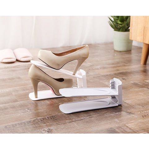 Set of Adjustable  Space Saver Shoe Rack Organizer - MyShimi.com