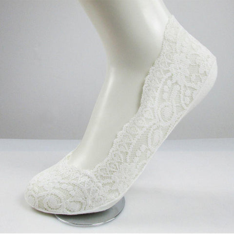 Invisible Lace Cotton Liner Spring Cut Ladies Socks - MyShimi.com