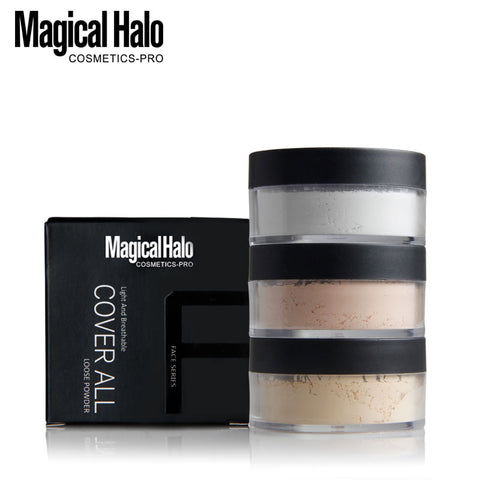 Ultra Smooth Waterproof Loose Powder Makeup in Transparent Finish