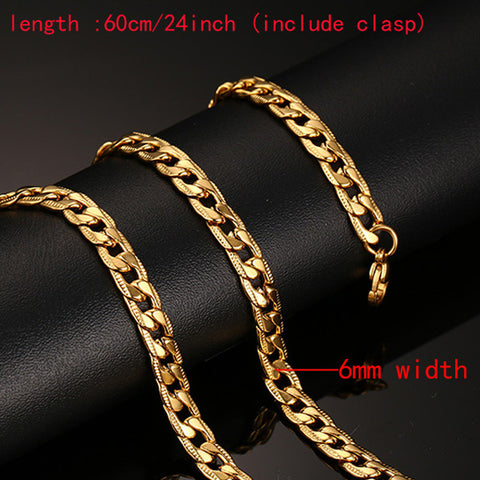 Men's Stainless Steel Snake Gold Necklace - MyShimi.com