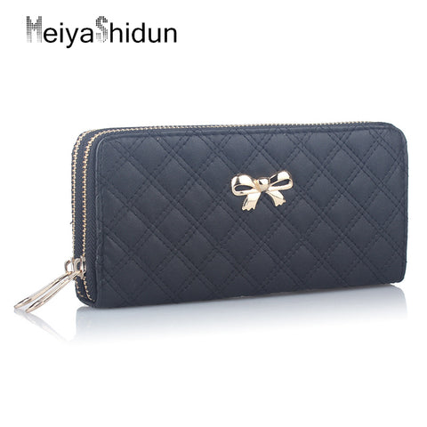 Luxurious Matte Suede Long Wallet with Card Holder - MyShimi.com
