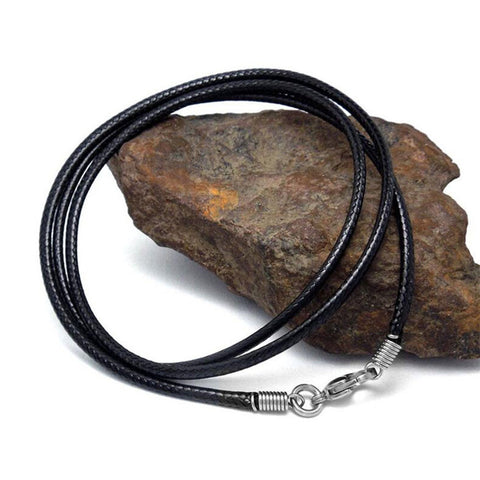 Black Leather Rope Necklace  for Men and Women - MyShimi.com