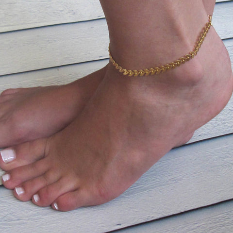 Stunning Gold or Silver Color  Anklet For Women