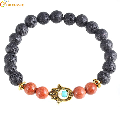 Adjustable Natural Stone Beads  Bracelet - MyShimi.com