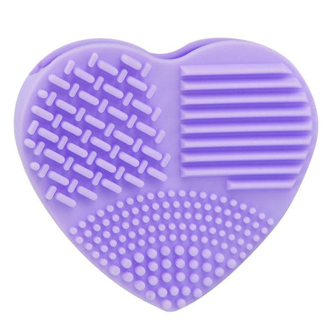 Heart Silicone Brush Scrubber Makeup Tool - MyShimi.com
