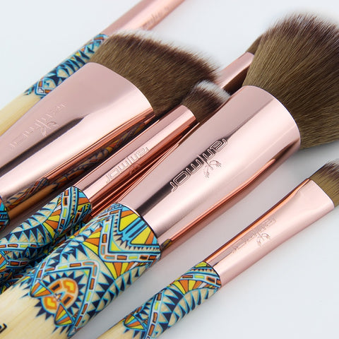 Bamboo Set Make Up Brush Soft Synthetic Collection Kit - MyShimi.com