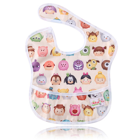 Waterproof Cartoon Print  Super Bib with Pocket - MyShimi.com