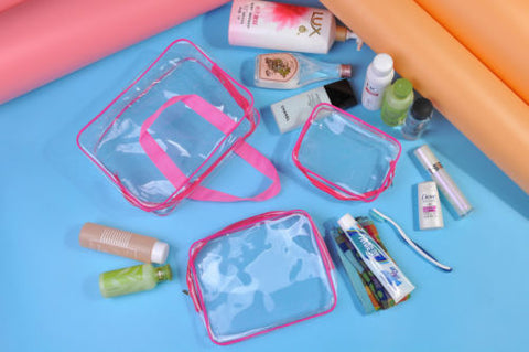 Clear Makeup  Fashion Strap Rectangular Bag Pro Mua - MyShimi.com