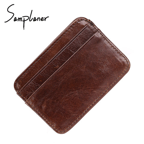 RFID Leather Mini Wallet With Secured Credit Card Holder