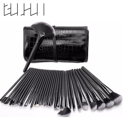 32 Pieces Professional Makeup Brush Set + Bag - MyShimi.com