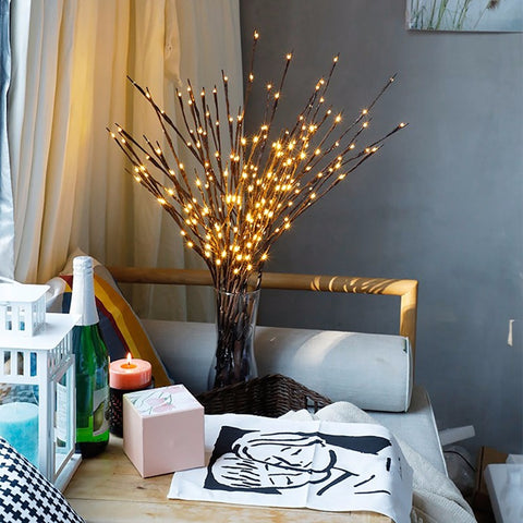 Branch Led Floral Lights Christmas Ornaments - MyShimi.com
