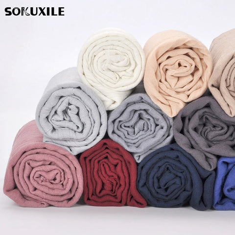 Classic Solid Cotton Blends Scarves - MyShimi.com