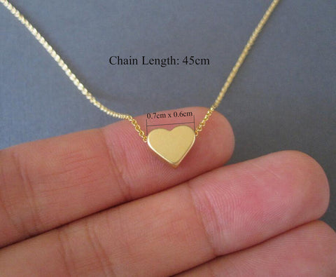 Latest Design Tiny Heart Long Chain  Necklace for Women - MyShimi.com