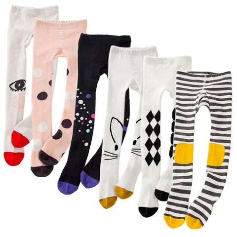 Cotton Knitted Spring Tights for Baby Girls - MyShimi.com