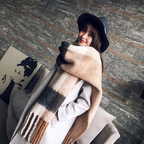 Thick Wool Cashmere Warm Scarves - MyShimi.com