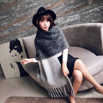Thick Wool Cashmere Warm Scarves