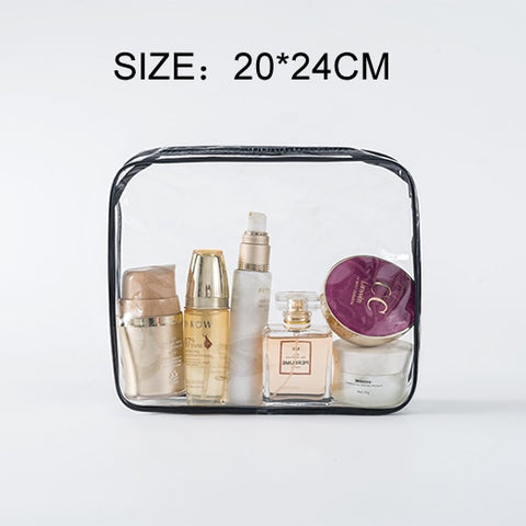 Transparent Clear Travel Beauty Case Cosmetic Bags