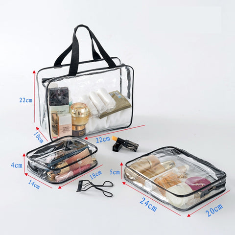 Transparent Clear Travel Beauty Case Cosmetic Bags - MyShimi.com