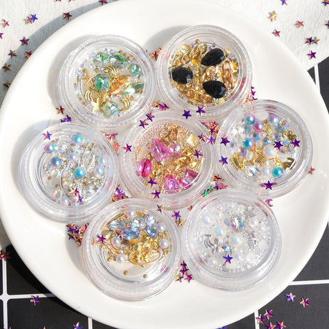 Mixed Nail Art Rhinestone Pearl 3D Decorations - MyShimi.com