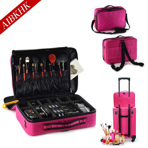 Professional Cosmetics Travel Makeup Organizer