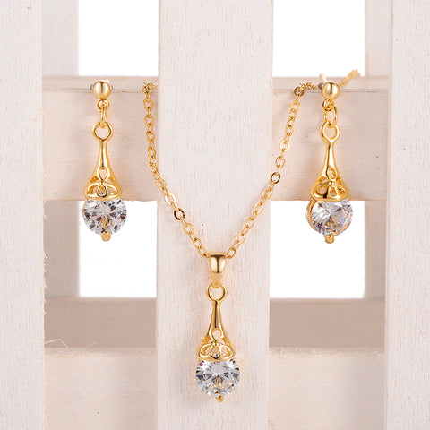 Fashionable Austrian Crystal in Gold and Silver Plated Jewelry Set for  Women - MyShimi.com