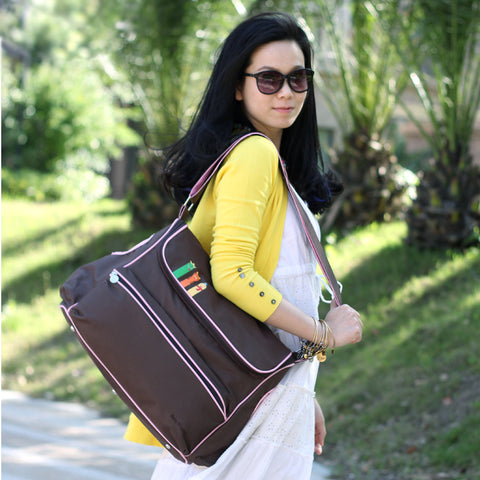 British Style Waterproof  Multi-functional Maternity  Large Diaper Bag - MyShimi.com